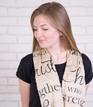 (Serenity Blue) Trust In The Lord Infinity Inspirational Scarf