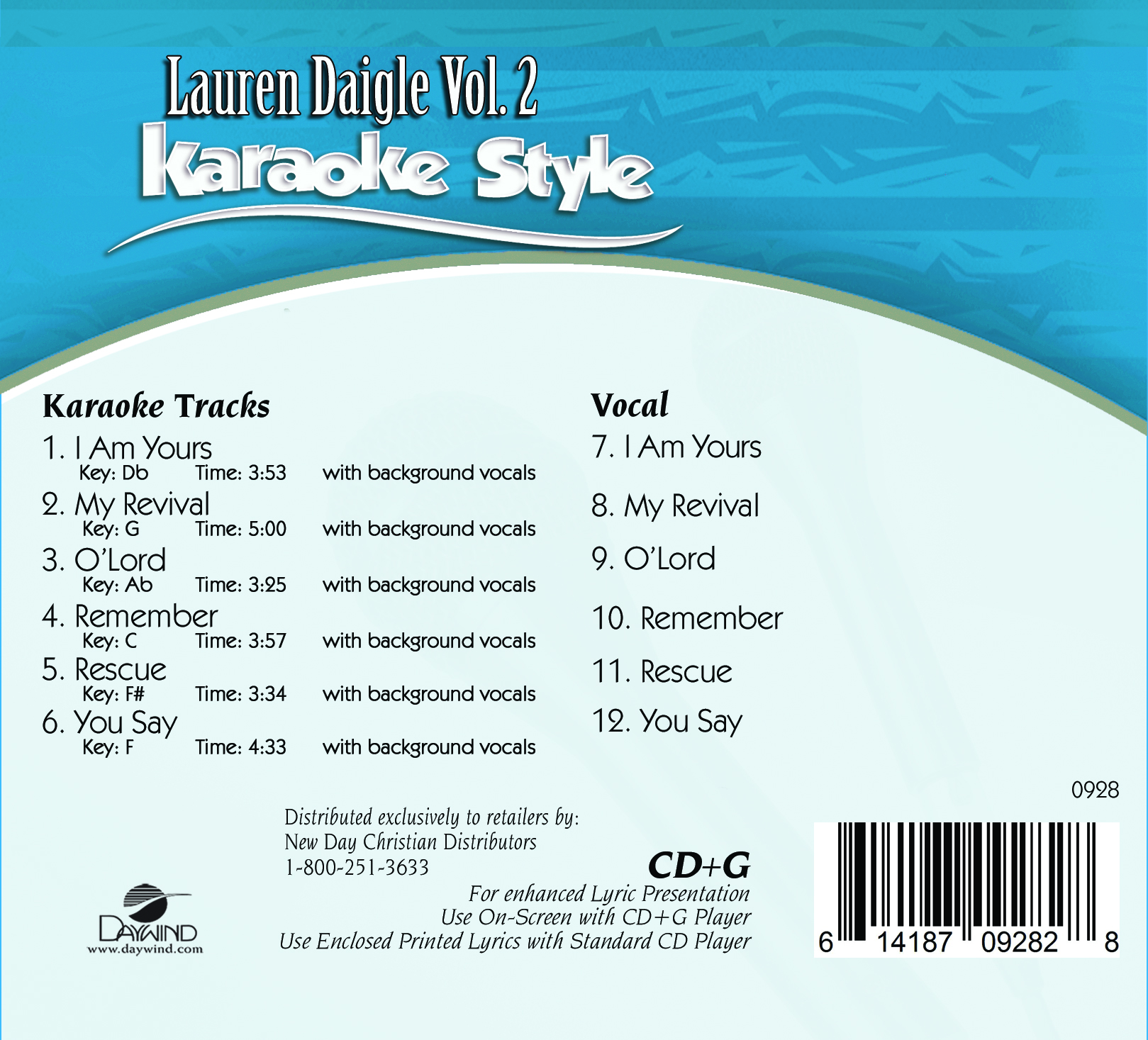 Karaoke Entertainment Musical Instruments & Gear Contemporary Christmas Volume 5 Christian Karaoke Style New Cd+g Daywind 6 Songs