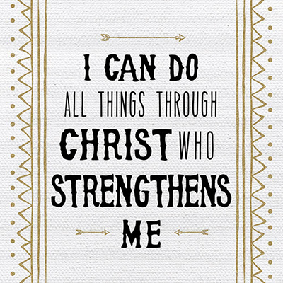 Tabletalk Plaque: I Can Do All Things Through Christ Who Strengthens Me
