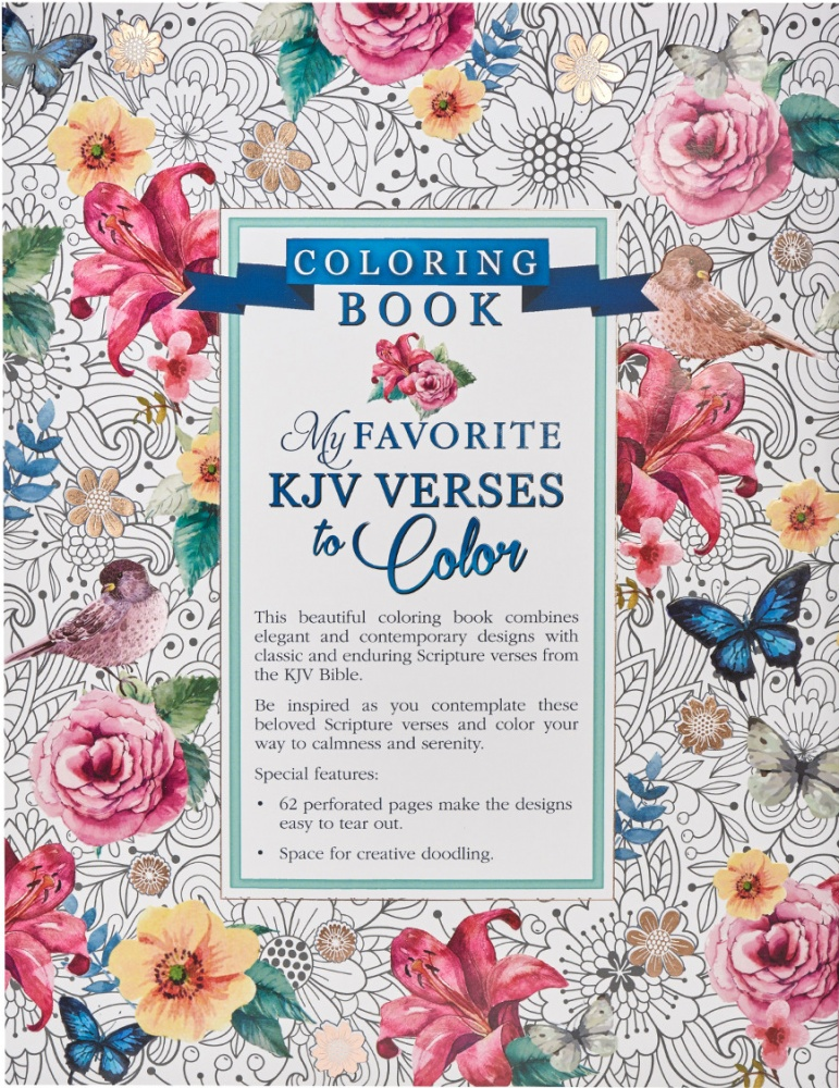 My Favorite KJV Verses To Color - : Christian Art Gifts (Book