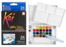 24-Piece Koi Assorted Water Colors Field Sketch Set with Brush