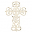 "White Vintage 12"" Wall Cross"