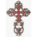 Red Stone Wall Cross (12in.)