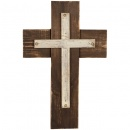"Dark Stain Wood 16"" Wall Cross"