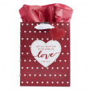 Love Gift Bag with Tag (Medium)