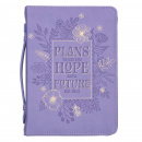 Hope and Future Purple Bible Cover (Large)
