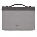 Courage Bible Cover (Gray)