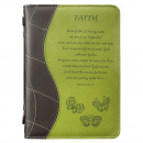"Green ""Faith"" Bible Cover (Medium)"
