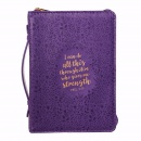 Phil. 4:13 Medium Bible Cover (Purple)