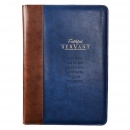 Faithful Servant Legal Size Zippered Portfolio (Blue and Brown)