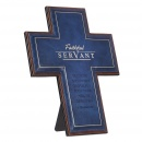Faithful Servant Cross (Blue LuxLeather)