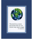 The World is a Book Matted Print
