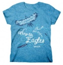 Wings Like Eagles, Missy Shirt, Blue, Medium