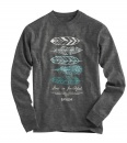 Feathers, God Is Faithful, Long Sleeve Shirt, Small