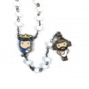 Tiny Saints Rosary (White)
