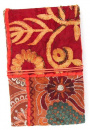 Red Cloth Sequin Sari Journal