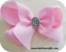 Pink Christmas Birth of Jesus Bow
