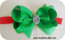 Red & Green Christmas Birth of Jesus Headband