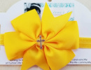 Yellow Cross Pinwheel Headband