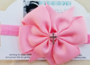Pink Cross Pinwheel Headband