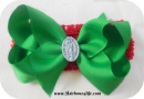 Green & Red Our Lady of Guadalupe Headband