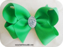 Green Holy Family Bow