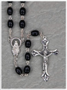 Black Keepsake Rosary