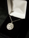 "St. Michael 18"" Silver Plated Necklace"