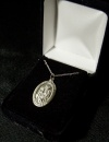 "St. Anthony 18"" Silver Plated Necklace"