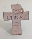 I Can Do All Things Through Christ: Ceramic Wall Cross
