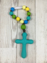 Boy Turquoise Cross Teether
