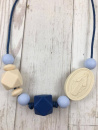 Dark Blue Ombre Lupita Mama Necklace