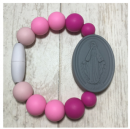 Pink Ombre Miraculous Medal Bracelet (Size 1)