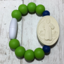 Green and Navy St. Benedict Bracelet (Size 1)