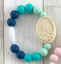 Navy, Turquoise, & Mint St. Therese with Sts. Zelie & Louis Bracelet