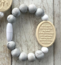 Marble & White First Holy Communion Bracelet (Size 2)