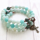 African Turquoise Rosary Bracelet
