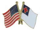 American & Christian Flags:Pin