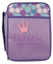Princess, Daughter Of The King Bible Cover (Purple Canvas, Large)