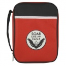 Soar Like An Eagle: Isaiah 40:31 Bible Cover (Red Canvas, Medium)