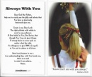 Cheerleading Prayer Card