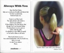 Gymnastics Prayer Card