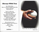 Softball Prayer Card