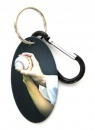 Baseball Zipper Pull Tag