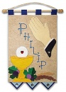 First Communion Banner Kit  9 in. x 12 in.  Praying Hands (Royal Blue accents)