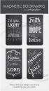 Rectangle Chalkboard Magnetic Bookmarks 4-Pack