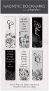 Black & White Scripture Magnetic Bookmarks 6-Pack