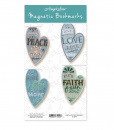 Magnetic Heart Bookmarks (4-pack)