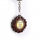 Watch and Pray Wooden Key Chain
