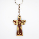 Jesus Wooden Cross Key Chain